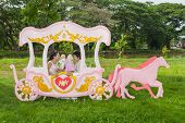picture of mating bears  - Asian Thai bridal with the wedding teddy bear in romantic carriage with love theme as the Prince and Princess - JPG