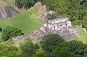 pic of atonement  - Aerial view of Xunantunich Mara Ruins in the jungle of Belize - JPG