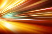 image of acceleration  - flash acceleration speed motion on night road - JPG