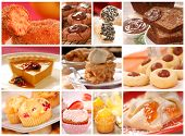 image of pound cake  - Collage showing a variety of delicious baked goods including cookies - JPG