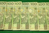 Row Of Banknotes - Polish Currency 100 Zloty
