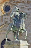 picture of conquistadors  - Equestrian statue of Francisco Pizarro in Trujillo Caceres Extremadura Spain - JPG