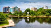 picture of alabama  - Cityscape scene of downtown Huntsville Alabama from Big Spring Park - JPG