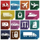 foto of lube  - Transport flat icons with shadow - JPG