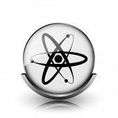stock photo of neutron  - Atoms icon - JPG