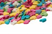pic of jimmy  - Colorful candy confetti on the white background - JPG