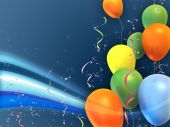pic of happy birthday  - Happy and colorful party composition - JPG