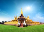 stock photo of buddhist  - Laos travel landmark - JPG