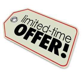 stock photo of countdown  - Limited Time Offer  store price tag merchandise or products special price sale deal - JPG