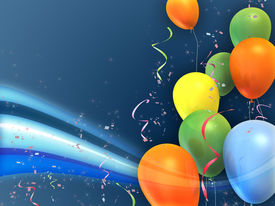 image of happy birthday  - Happy and colorful party composition - JPG