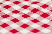 image of tartan plaid  - Closeup of Texture red tartan plaid textile fabric for background