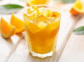 Постер, плакат: Glass Of Fresh Orange Juice With Ice
