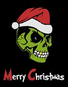 picture of zombie  - Zombie Santa Claus wishing Merry Christmas - JPG