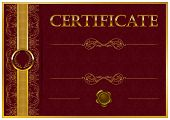 picture of achievement  - Elegant template of certificate - JPG