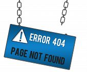 picture of not found  - Page no t found concept image with broken link signboard - JPG