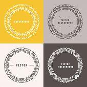 image of outline  - Vector set of outline design elements in minimal style  - JPG