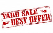 picture of yard sale  - Rubber stamps with text yard sale inside vector illustration - JPG