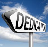 Постер, плакат: dedication dedicate yourself motivation and attitude motivate self for a job letter a talk or task y