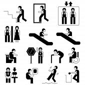 picture of universal sign  - people universal sign in public in different situations - JPG