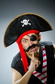 picture of long beard  - Funny pirate with long beard - JPG