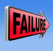image of fail job  - fail attempt exam or important test failure - JPG
