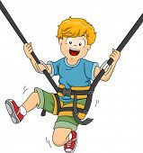 pic of bouncing  - Illustration Featuring a Boy Bouncing Off a Trampoline - JPG