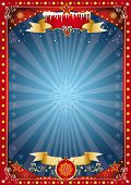 image of christmas theme  -  Fantastic red and blue christmas poster - JPG