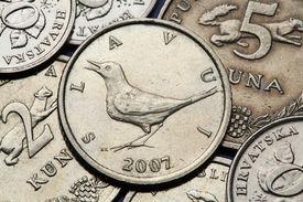 picture of nightingale  - Coins of Croatia - JPG