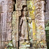 pic of building relief  - Ancient stone relief in Angkor Wat - JPG