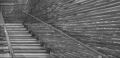 foto of stairway  - Monochrome photograph of a glass - JPG