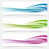 pic of vivid  - Modern abstract swoosh smooth vivid dotted line headers collection - JPG