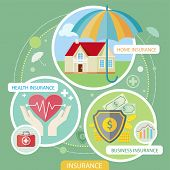 picture of insurance-policy  - Insurance icons set concepts of home insurance - JPG