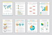 foto of brochure  - Set of infographic business brochures banners - JPG
