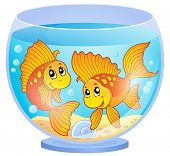 stock photo of fishbowl  - Aquarium theme image 3  - JPG