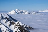 picture of sochi  - View on mountains and blue sky above clouds - JPG