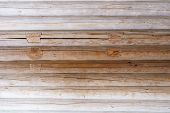 picture of log fence  - Logs the texture of the wooden house - JPG