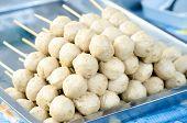 stock photo of meatball  - Meatballs Sales in urban market - JPG