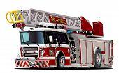 picture of big-rig  - Vector Cartoon Fire Truck - JPG