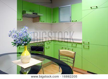 Постер, плакат: Красивая кухня и столовая , холст на подрамнике