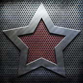 picture of iron star  - metal star background template  - JPG