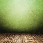 Постер, плакат: Старый гранж пустая комната с Зеленая стена