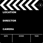picture of clapper board  - Flim clapper board with space to put your own text - JPG