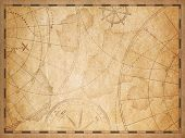 old nautical treasure vintage map theme background poster