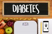 A Diabetes Test,  Health Medical Concept , Obesity , Blood Test For Diabetes poster