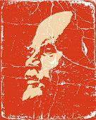 Постер, плакат: портрет Ленина на плакат