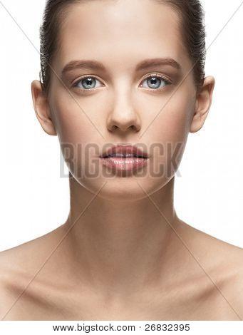 Портретное девушек без макияжа