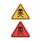 Danger Vector Sign. Skull And Crossbones Danger Sign poster