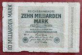 stock photo of billion  - Hyper inflation german money  - JPG