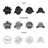 Isolated Object Of Emblem And Badge Logo. Collection Of Emblem And Sticker Stock Vector Illustration poster