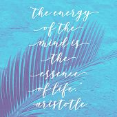 Inspirational Quote. Hand Drawn Greeting Illustration With Hand-lettering. poster
